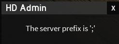 HD Admin prefix popup
