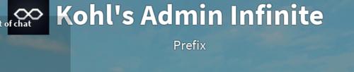 Koh's Admin Infinite prefix popup