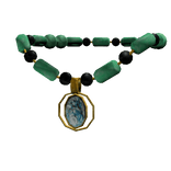 Jade Necklace with Shell Pendant item